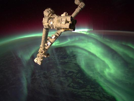 The Expedition 32 crew onboard the International Space Station, flying an altitude of approximately 240 miles, recorded a series of images of Aurora Australis, also known as the Southern Lights, on July 15, 2012.